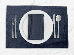 S4Sassy Line & Circle Geometric Placemats With Napkins Table Decor-GMD-543D