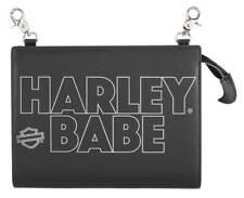 Harley-Davidson Women's H-D Babe Leather Hip Bag w/ Strap - Black HDWBA11506