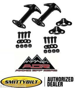 Factory Style Black Jeep Hood Latch Catch PAIR Fits 55-95 Jeep Wrangler and CJ