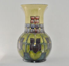 "Moorcroft Art Pottery Vase Violet (9 3/4"" Tall) Very Small Chip On Base"