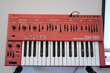Roland SH-101 Rare RED color VINTAGE monophonic bass synthesizer w/ power supply