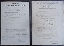 Documenti caduto bombardamento 1943 Fabbrica d'Armi Terni Ministero della Guerra