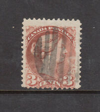 Canada #37d Used Fine Copper Red Perf 12.5