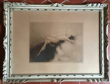 LOUIS ICART ( 1888 / 1950 ) : GRAVURE ORIGINALE SIGNEE /  NU / ART DECO
