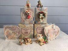 Calico Kittens Here Comes Santa Claus Jingle Bells & 4 Christmas Ornaments Nib