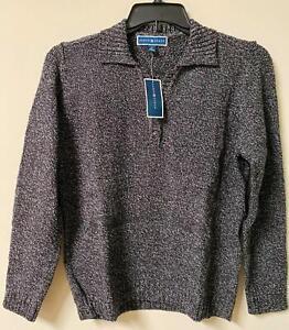 Karen Scott Womens Pullover Sweater Collar Brown Long Sleeve New all sizes