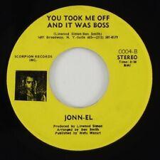 """Jonn-El """"You Took Me Off And It Was Boss"""" Funk 45 Scorpion HEAR"""