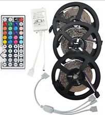 15m Bandeau Led Ruban Flexible,  Led5050 Rgb+Manette+capteur+connecteur