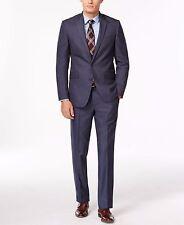 Kenneth Cole Reaction Slim-Fit Light Blue Sharkskin Suit 36 Small 2 Piece Suit
