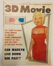 3D Movie Magazine * First issue * MARILYN MONROE cover * w/ glasses * Vol 1 No.1