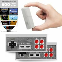 TV Video Game Console 8 Bit Built-in 600 Classic Retro Games Wireless Controller