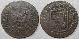 1829-FM Spain/Philippines Quarto ~ Full Date ~ Nice Coin ~ Basso-34 ~ QP401
