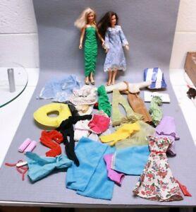 Vintage Kenner Blonde Darci and Brunette Erica Doll Dress Pants Clothing Big Lot