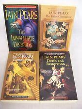 IAIN PEARS BOOKS,ART HISTORY MYSTERY,DEATH RESTORATION,GIOTTOS HAND,TITIAN COMMI
