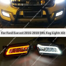 For Ford Everest 2016-2019 LED Daytime Running Light Fog Lamp DRL k TURN SIGNAI