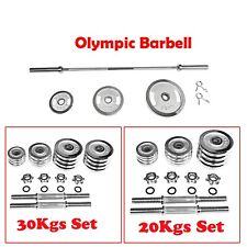 1.8m Olympic Barbell Bar, 20kg 30kg Dumbell 5kg 10kg 20kg Weight Plate Collars