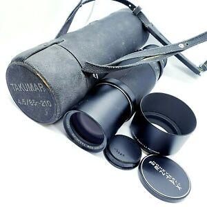 【MINT】PENTAX Asahi SMC Takumar Zoom 85-210mm f/4.5 M42 Lens, Case, Hood, Caps