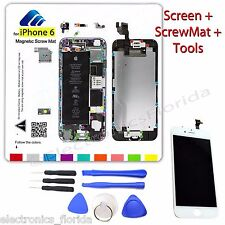 LCD Digitizer Glass Touch Screen + Magnetic ScrewMat + Tools for Iphone 6 White