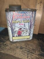 Vintage New Hampshire Maple Syrup -Tin Can- 1 Quart. Cows,shack Nice Colors!