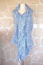 Jolie écharpe ton bleu neuve de marque CLOSED coton et soie  étiqueté 89€
