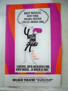 YOUR OWN THING Herald TOUR Wilbur Theatre BOSTON MA 1968