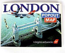 Vintage Virgin Atlantic 1997 London Bus Underground Popout Map VTG RARE VGUC