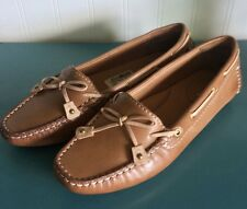 NEW Clarks Artisan Dunbar Racer Women's Leather Loafers Shoes Tan Caramel 5.5M