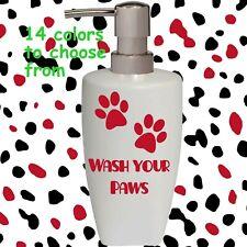 Wash Your Paw Soap Pump dispenser Dog Cat Bathroom Kitchen lotion soap Dispenser