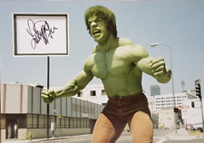 LOU FERRIGNO Signed 14x10 Photo Display THE INCREDIBLE HULK COA