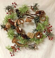 "Honey And Me Christmas 19"" Curly Burlap Christmas Wreath ~ Hand-Made ~ C14553"