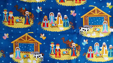 Brand New Christmas Nativity Manger Print Fabric