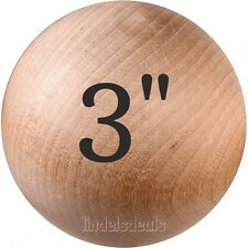 "3"" Balls Unfinished Hardwood / BUY 3 BALLS AND GET 1 BALL FREE!"