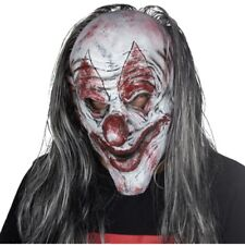 Halloween Clown Mask Killer Clown Scary Evil Latex Silver KillJoy Clown