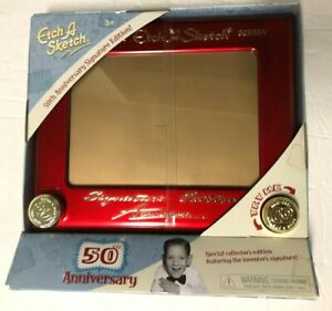 Etch A Sketch 50th Anniversary Signature Edition Collector Item RARE-NEW!!