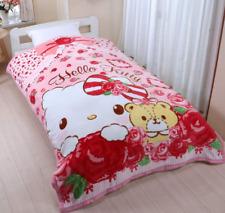 Hello Kitty Warm Sleep Blanket Micro Fiber Single Bed Throw Sanrio from Japan