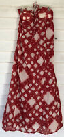 R2 lauren conrad Maxi dress Size 8 White Red Tie Dye Look Tie Behind Neck