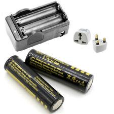 2pcs 3.7V 4000mAh 18650 Rechargeable Battery Li-lion Batteries + Battery Charger