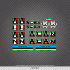 0692 Alan Bicycle Stickers - Decals - Transfers - Italian Flag Colours