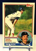 💥1983 Topps #498 WADE BOGGS Rookie Card Red Sox/Yankees HOF RC💎PACK FRESH