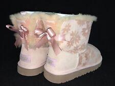 Ugg Australia Mini Bailey Bow Flowers Girl's Toddler Boots 1016234 Sheepskin