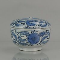 Large Edo Period 17/18th C Japanese Porcelain Arita Bowl Flowers and Branches
