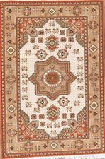 Geometric Ivory Traditional Oushak Turkish Reproduction Area Rug Bedroom 5'x7'