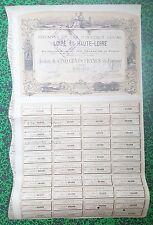 Dépt 42 & 43 - Rare Chemins De Fer d'intérêt Local de Loire & Haute-Loire  1875