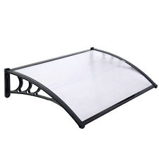 DOOR CANOPY AWNING SHELTER FRONT BACK PORCH OUTDOOR SHADE COVER 80 X 120CM BLACK
