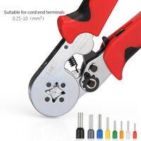 0.25-10mm² Cable Crimper Terminal Wire Ferrule Ratchet Press Plier Crimping Tool