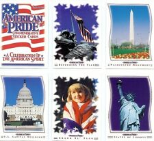 American Pride Commemorative Sticker Card Set - Full 45 Card Sticker Set