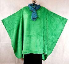 ~GROOVY GLAM Velvet Plush Women's Batwing Poncho OS+ KELLY GREEN St. Patty's Day