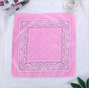 Soft Bandana Scarves Paisley Head Face Mask Wrap 22'' Handkerchief Square Scarf