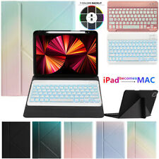 """For iPad 8th 10.2"""" 5th 6th Gen Air 4 3 Pro 11 2021 Bluetooth Keyboard Case Cover"""