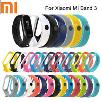 For Xiaomi MI Band 3 Wrist Band Strap Replacement Bracelet Watch Silicone Bs